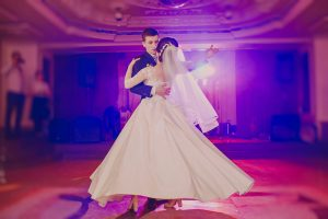 romantic couple dancing on their wedding HD
